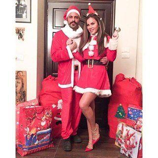 بالصور: نيكول سابا تحتفل بالكريسماس على طريقتها الخاصة مع زوجها