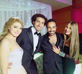 بالصور: علي ربيع يحتفل بعقد قرانه وسط نجوم الفن