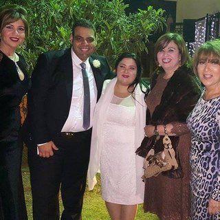 الصور الأولى من زفاف سارة نور الشريف