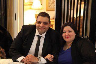 """بالصور: نور الشريف يحتفل بخطوبة ابنته """"سارة"""""""